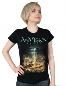 ANVISION - New World T-shirt damski