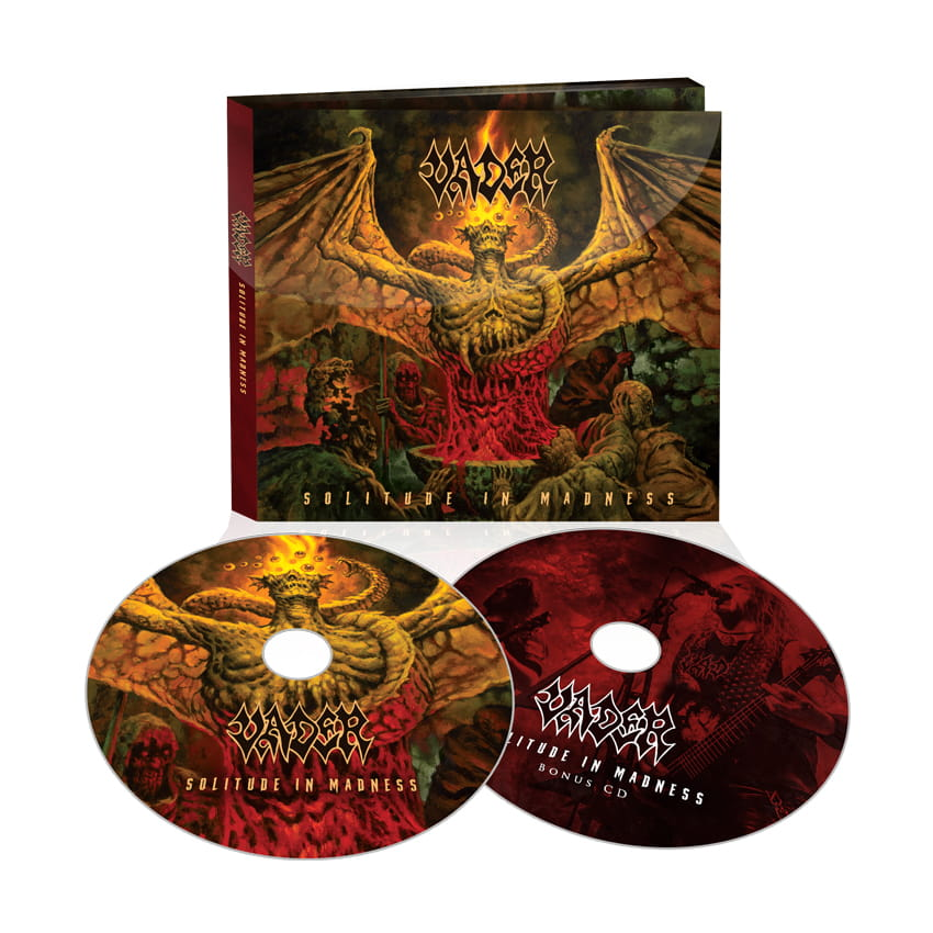 PRE-ORDER! VADER - SOLITUDE IN MADNESS - 2xCD/ digipack Szataniec
